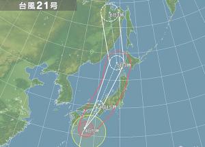4日台風21号