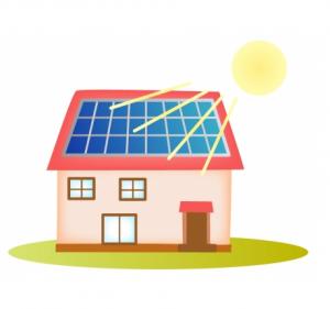 太陽光の家